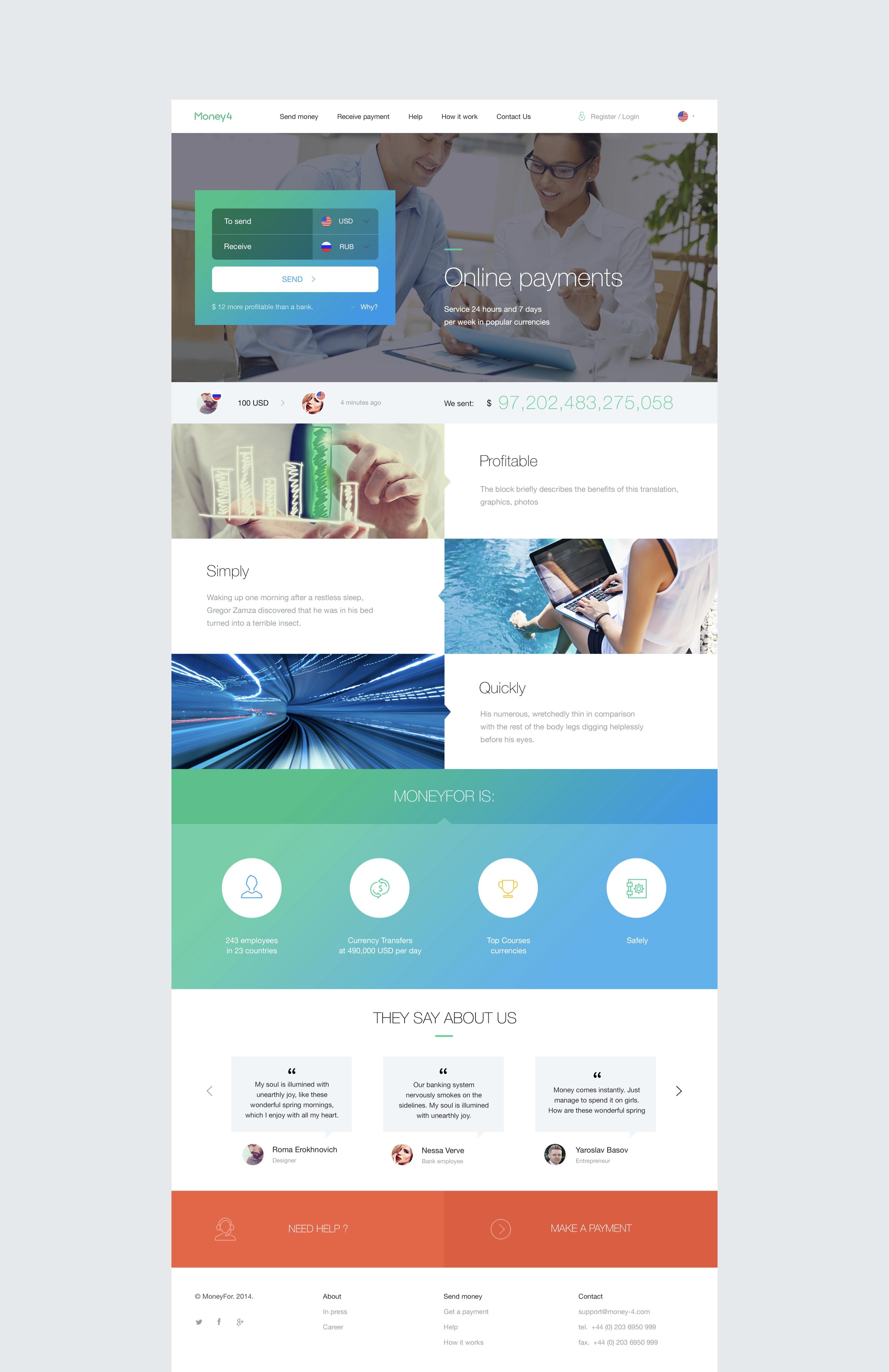 04_home page design_Mobile App and website Money Nebeus_Money4_by_basov_design_