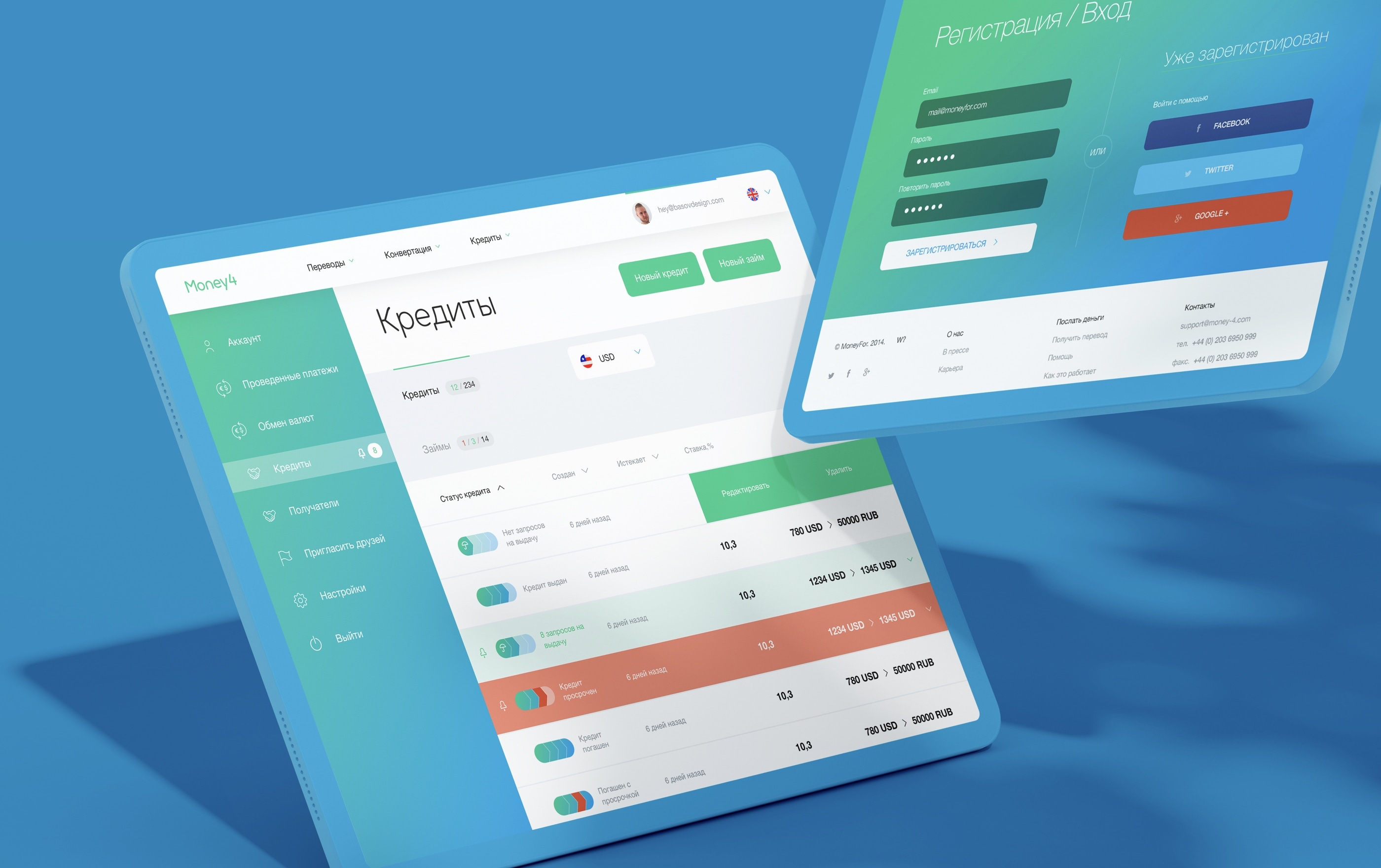 13_2_credit and check in page_Mobile App and website Money Nebeus_Money4_by_basov_design_